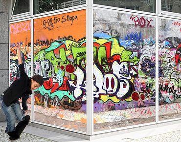 Fensterfolie - XXL Fensterbild Graffiti - Fenster Sichtschutz