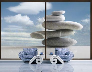 Fensterfolie - XXL Fensterbild In Balance - Fenster Sichtschutz