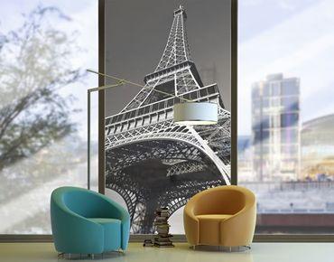 Fensterfolie - XXL Fensterbild Eiffelturm - Fenster Sichtschutz