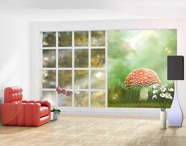 Fensterfolie - XXL Fensterbild Fliegenpilz - Fenster Sichtschutz