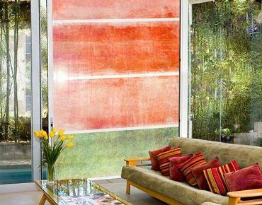 Fensterfolie - XXL Fensterbild Colour Harmony Red - Fenster Sichtschutz