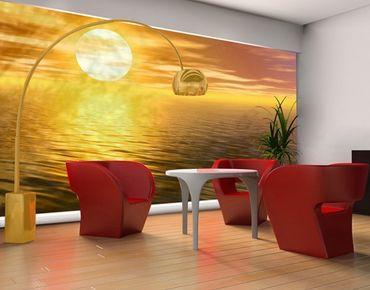 Fensterfolie - XXL Fensterbild Golden Sunrise - Fenster Sichtschutz