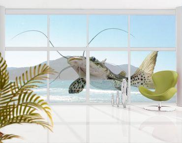 Fensterfolie - XXL Fensterbild Katzenfisch - Fenster Sichtschutz