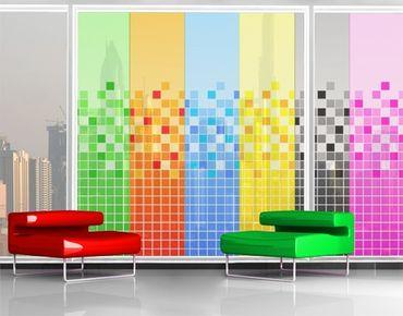 Fensterfolie - XXL Fensterbild Pixel Mix - Fenster Sichtschutz