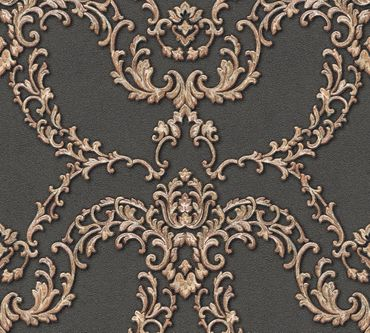 Architects Paper Mustertapete Luxury Classics in Metallic, Rot, Schwarz