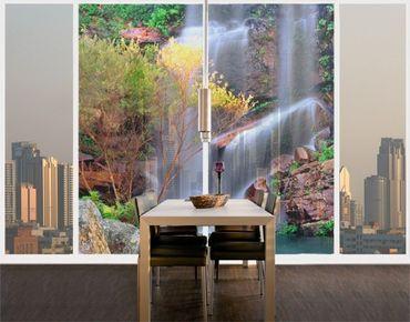 Fensterfolie - XXL Fensterbild Summer Fairytale - Fenster Sichtschutz