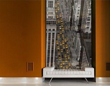 Fensterfolie - XXL Fensterbild Taxiverkehr in Manhattan - Fenster Sichtschutz