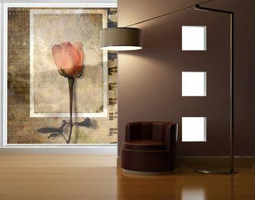 Fensterfolie - XXL Fensterbild Inner Rose - Fenster Sichtschutz