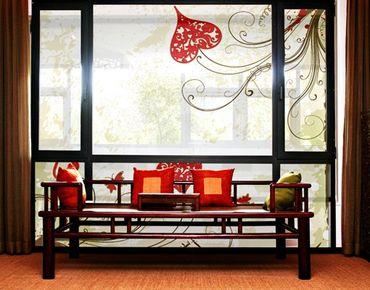 Fensterfolie - XXL Fensterbild Heart Background - Fenster Sichtschutz