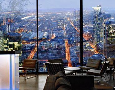 Fensterfolie - XXL Fensterbild Frankfurt - Fenster Sichtschutz