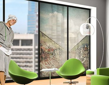 Fensterfolie - XXL Fensterbild Graffiti-Skatepark - Fenster Sichtschutz