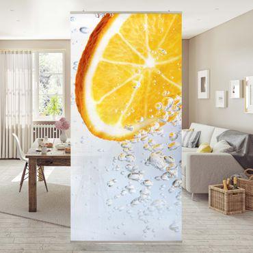 Raumteiler - Splash Orange 250x120cm