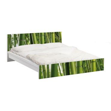 Möbelfolie für IKEA Malm Bett niedrig 160x200cm - Klebefolie Bamboo Trees No.1