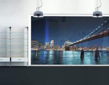 Fensterfolie - XXL Fensterbild Lichter des World Trade Centers - Fenster Sichtschutz