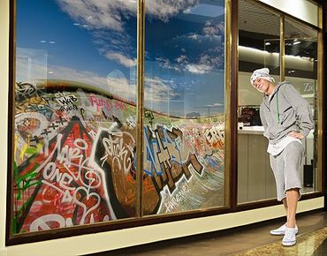 Fensterfolie - XXL Fensterbild Paradies für Skater - Fenster Sichtschutz