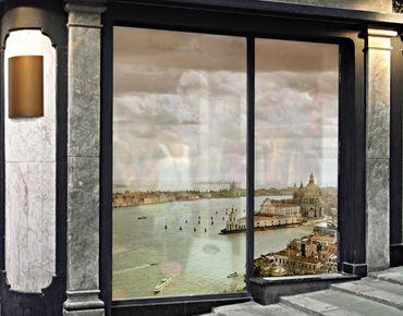 Fensterfolie - XXL Fensterbild Lagune von Venedig - Fenster Sichtschutz