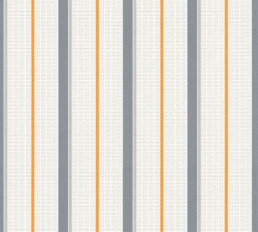 Esprit Streifentapete Esprit Kids 5 in Grau, Orange, Weiß