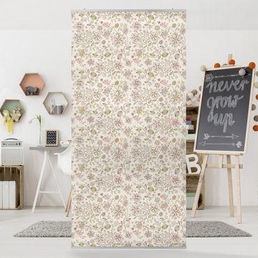 Raumteiler - Birds and Flowers 250x120cm