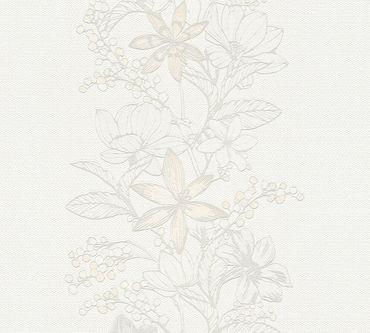 Esprit Mustertapete Esprit 13 Romantic Botanics in Grau, Metallic, Weiß
