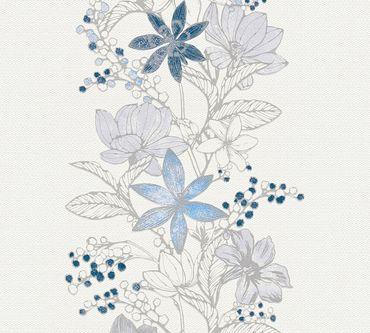 Esprit Mustertapete Esprit 13 Romantic Botanics in Blau, Metallic, Weiß
