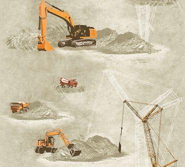 A.S. Création Mustertapete Little Stars in Beige, Orange, Schwarz
