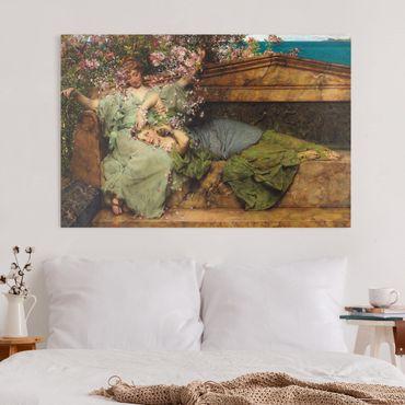 Leinwandbild - Sir Lawrence Alma-Tadema - Im Rosengarten - Querformat 2:3
