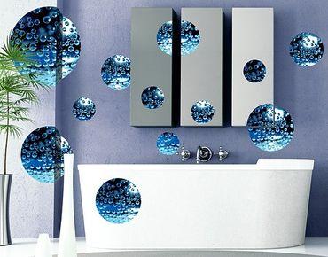 Wandtattoo No.519 Kreise Dark Bubbles 12er Set