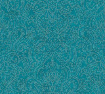A.S. Création Mustertapete Boho Love in Metallic, Blau, Grün