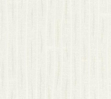 A.S. Création Streifentapete Flavour in Überstreichbar, Weiß