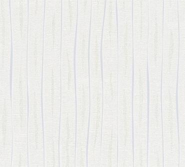 A.S. Création Streifentapete Flavour in Überstreichbar, Grau