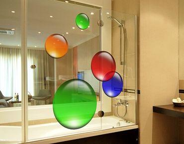 Fensterfolie - Fenstersticker No.516 Kreise Magical Balls 5er Set - Fensterbilder