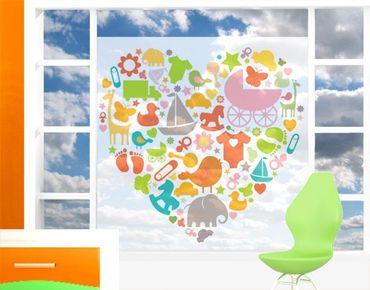 Fensterfolie - Sichtschutz Fenster No.EK133 Baby Heart - Fensterbilder