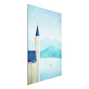 Aluminium Print - Reiseposter - Bavaria - Hochformat 3:2