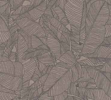A.S. Création Mustertapete Linen Style in Beige, Grau, Schwarz