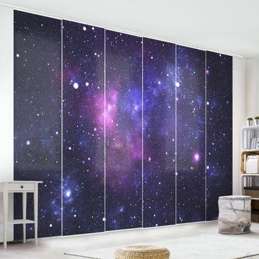 Schiebegardinen Set - Galaxie - Flächenvorhänge