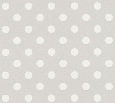 A.S. Création Mustertapete Boys & Girls 6 in Grau, Weiß