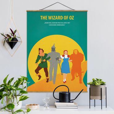 Stoffbild mit Posterleisten - Filmposter The Wizard of Oz - Hochformat 4:3