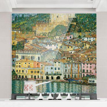 Spritzschutz Glas - Gustav Klimt - Malcesine am Gardasee - Quadrat 1:1