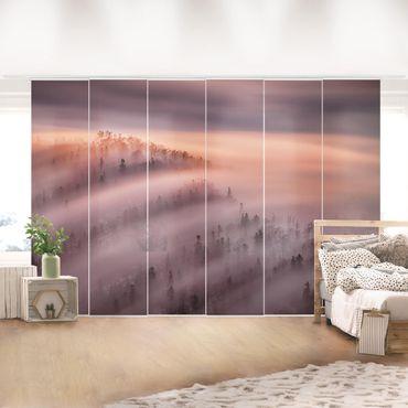 Schiebegardinen Set - Nebelflut - Flächenvorhang