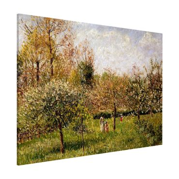Magnettafel - Camille Pissarro - Frühling in Eragny - Memoboard Querformat 3:4