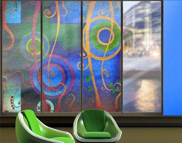 Fensterfolie - XXL Fensterbild Expression - Fenster Sichtschutz