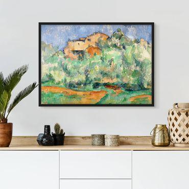 Bild mit Rahmen - Paul Cézanne - Haus auf Anhöhe - Querformat 3:4