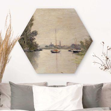 Hexagon Bild Holz - Claude Monet - Argenteuil