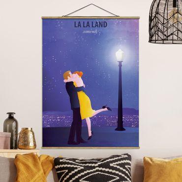 Stoffbild mit Posterleisten - Filmposter La La Land II - Hochformat 4:3