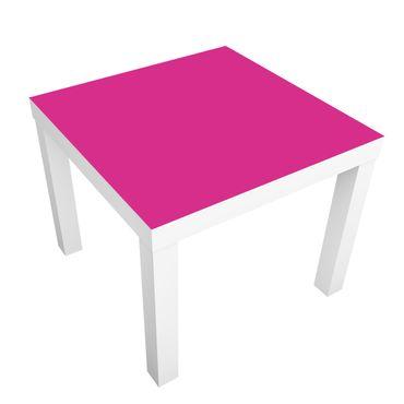 Möbelfolie für IKEA Lack - Klebefolie Colour Pink