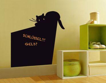 Wandtattoo Katze Kreidetafel No.UL915 Schräge Katze