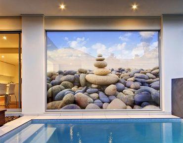 Fensterfolie - XXL Fensterbild Garten Eden - Fenster Sichtschutz