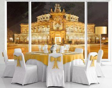 Fensterfolie - XXL Fensterbild Dresdner Opernhaus - Fenster Sichtschutz