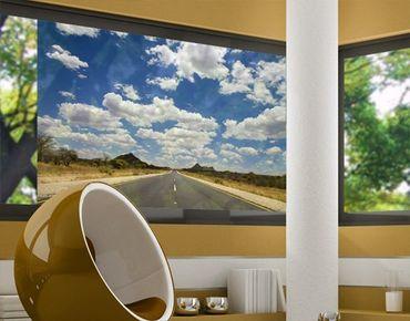 Fensterfolie - Sichtschutz Fenster Route 66 - Fensterbilder