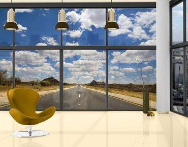 Fensterfolie - XXL Fensterbild Route 66 - Fenster Sichtschutz